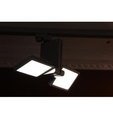 Foco Carril Orientable Monofásico, Moon, Plata, LED 14W, Ángulo 45º
