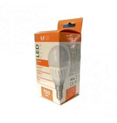 Bombilla LED E14, G45, Esférica, 10W, 3000k, Blanco Cálido, Ángulo 180º