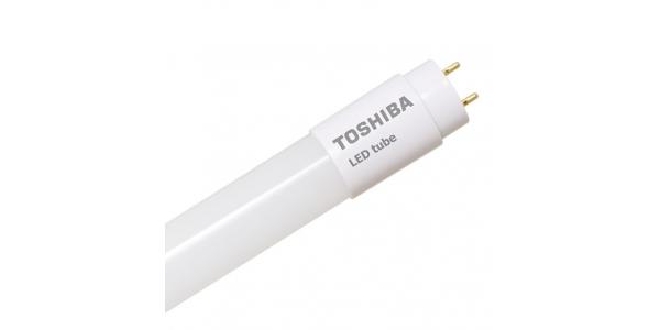 Tubo LED T8 G13 Cristal Toshiba 7W. 60 cm. Blanco Natural. 1050 Lm. Ángulo 210º