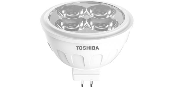 Bombilla LED MR16 Toshiba 5W-12V. Blanco Cálido. 350 Lm. Ángulo 60º