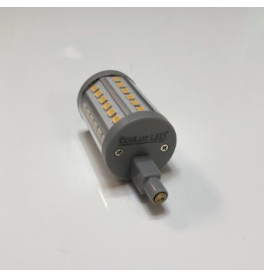 Bombilla LED R7s 7W 78mm. Regulable. 1000 Lm. Blanco Cálido - 2700k. Ángulo 300º