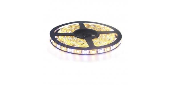 Tira LED 14.4W/m 24VDC. Exterior. De luz cálida a Luz Blanca (60 LEDs/m) SMD5050