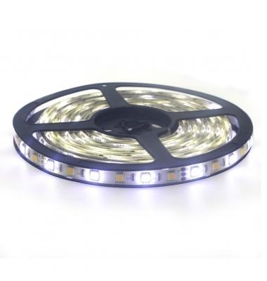 Tira LED CCT 14.4W/m, 24VDC. SMD5050, 3000k-6000k, Carrete 5 metros. 60 LEDs/m. Interior - Espacios Húmedos - IP55