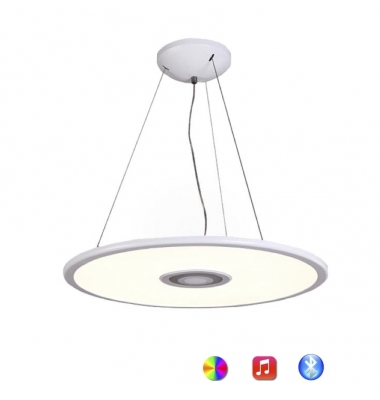 Lámpara de Techo LED 36W Regulable. Altavoz Bluetooth