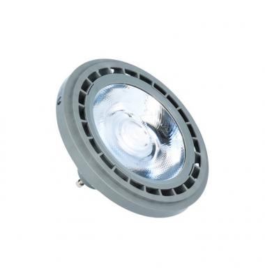 Bombilla LED AR111 15W. 12V. Blanco Natural. Ángulo 38º . 1300 Lm. Acabado Plata