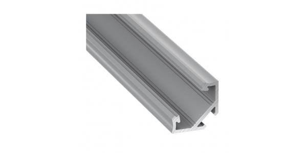 Perfil Aluminio para Tiras LED Angular Bob. 1 Metro