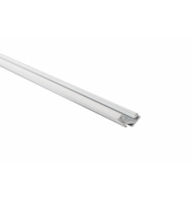 Perfil Aluminio Bob. Superficie en angulo. 1 Metro. Tiras LED 10-12mm