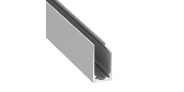 Perfil Aluminio LABEL de 1 metro para Estanterías y Rotulación, Tiras LED máximo 10 mm