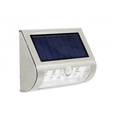 Aplique Pared Solar LED 1.6W Wall. Con sensor movimiento
