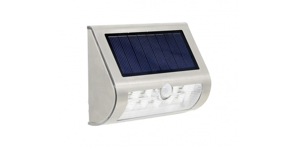 Aplique Pared Solar LED 1.6W Wall. Con sensor movimiento