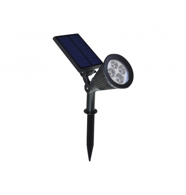 Estaca Solar LED 2W Post. Orientable. Ángulo 120º Blanco Frío
