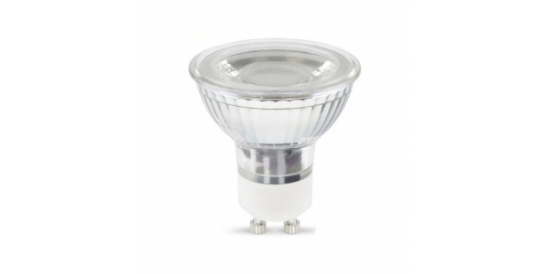Bombilla LED GU10 7W Cristal. 38º. LED Epistar -Blanco Frío - 6000k