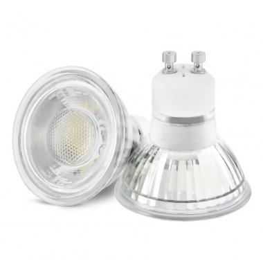 Bombilla LED GU10 7W Cristal. 38º. LED Epistar