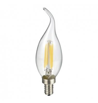 Bombilla Filamento Vela Lujo B35 E14 Transparente 4W. Luz Cálida