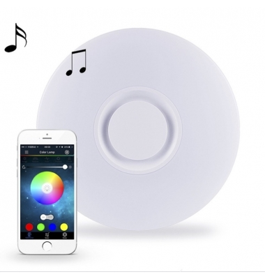 Plafón de Techo LED Lowers. 36W Regulable. Altavoz Bluetooth