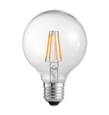Bombilla LED Filamento, E27, G95, 6W, 3000k, Blanco Cálido, Ángulo 360º