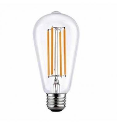 Bombilla LED Filamento, E27, ST64, 6W, 2700, Blanco Cálido. Ángulo 360º