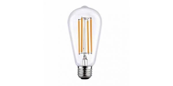 Bombilla LED Filamento, E27, ST64, 6W. 2700, Blanco Cálido. Ángulo 360º