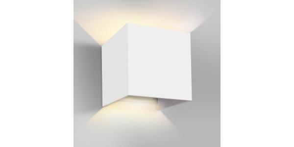 Aplique Pared LED Blanco 7W Cozy. Para Interior y Exterior