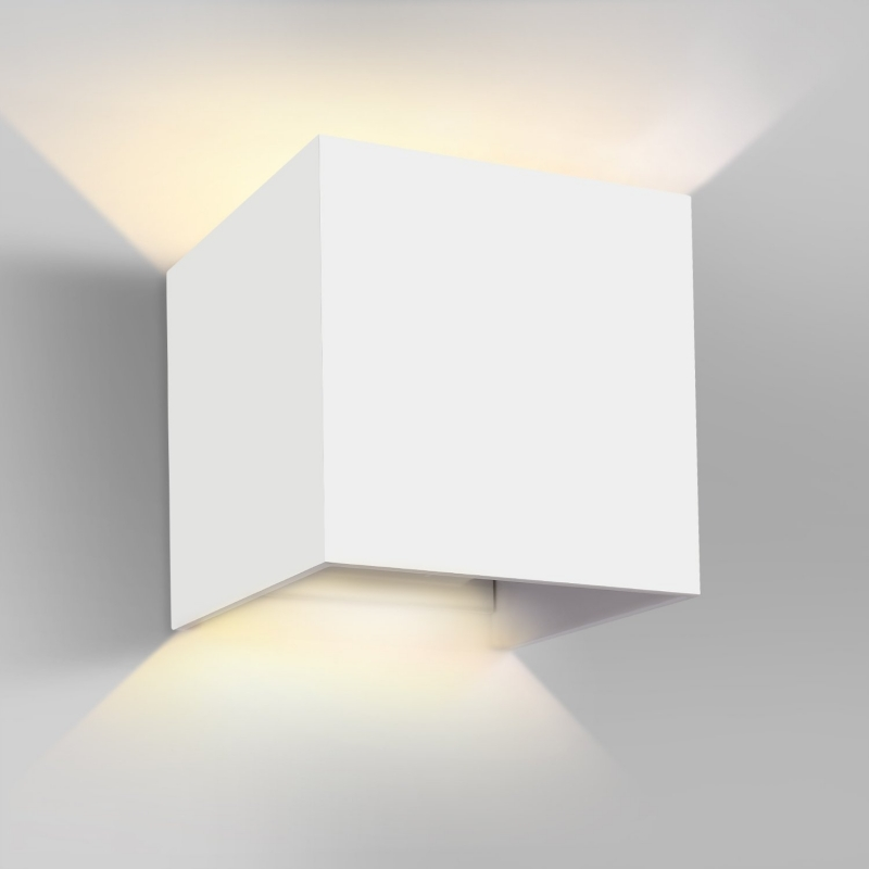 aplique pared led blanco 7w cozy para interior y exterior