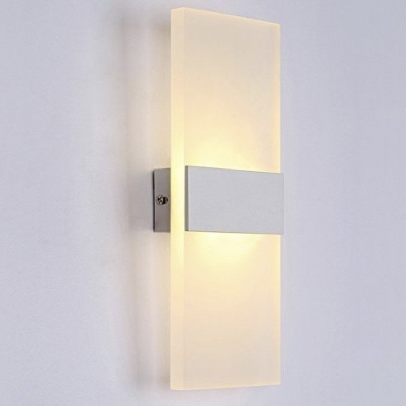 Aplique pared led 8w flat para interior for Plafones para pared