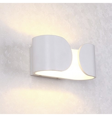 Aplique Pared LED Blanco 12W Hug. Para Interior y Exterior