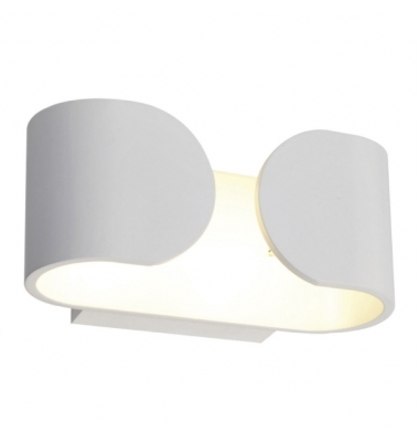 Aplique Pared LED Blanco 6W Hug. Para Interior y Exterior