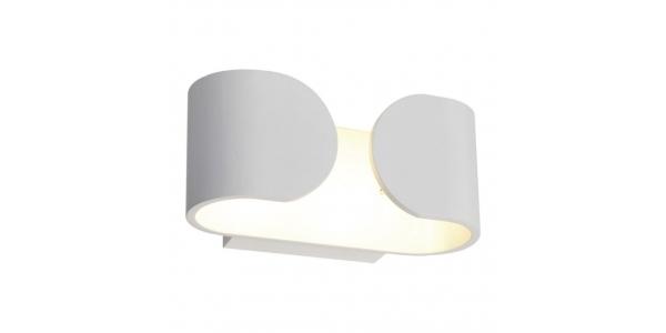 Aplique Pared LED Blanco 6W Hug. Para Interior y Exterior