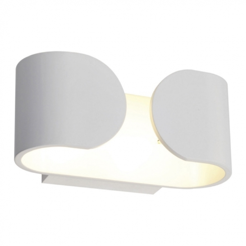 Aplique pared led blanco 6w hug para interior y exterior for Plafones para pared exterior