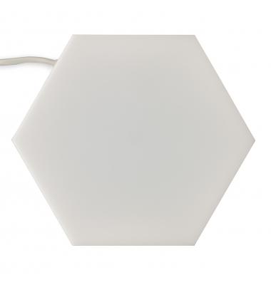 Panel LED Hexagonal Enlazable 3.5W Puzzle. Luz Natural. Marco Blanco
