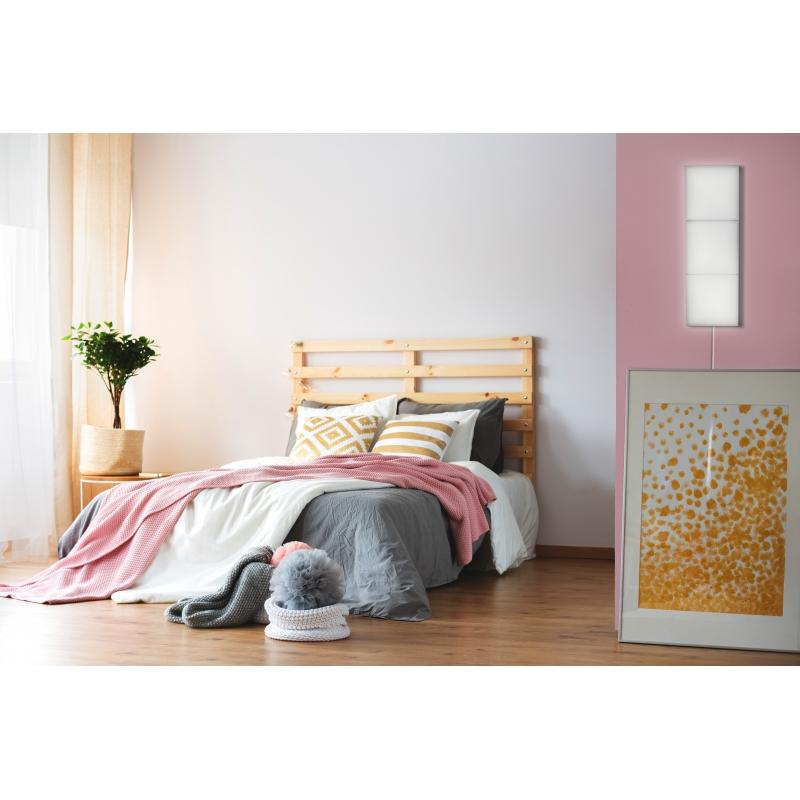 Panel LED Cuadrado Enlazable 2.9W Puzzle. Luz Natural. Marco Blanco