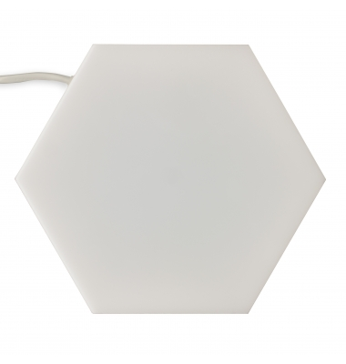Panel LED Hexagonal Enlazable 10W Puzzle. Luz Natural. Marco Blanco