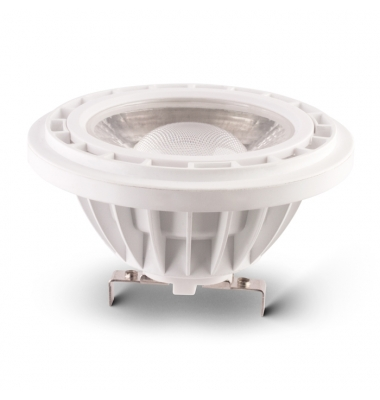 Bombilla LED AR111 10W. 12V. Blanco Natural. Ángulo 45º. 850 Lm. Base G53