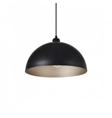 Colgante Vintage Bell Negro E27. Incluye Bombilla Filamento 6W