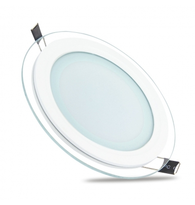 Downlight Panel Cristal LED Redondo 18W. Ángulo 120º