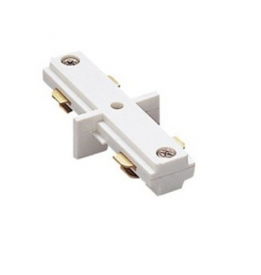 Conector Unión Carriles Monofásico. Blanco y Negro