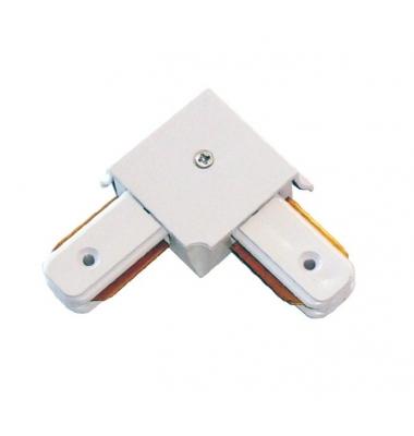 Conector Unión L, Carriles Monofásico, Blanco y Negro