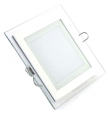 Downlight Panel Cristal LED Cuadrado 12W. 3000k, Blanco Cálido, Ángulo 120º