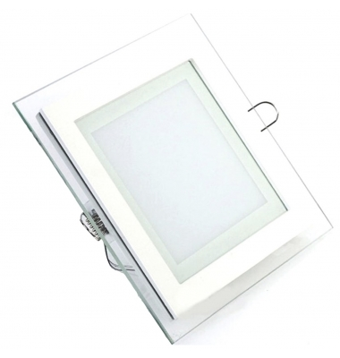 Downlight Panel Cristal LED Cuadrado 12W. Ángulo 120º