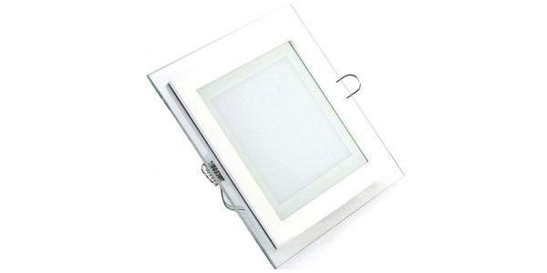 Downlight Panel Cristal LED Cuadrado 12W. Ángulo 120º