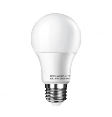 Bombilla LED E27 A60 Estándar 10W. Blanco Frío. Ángulo 300º
