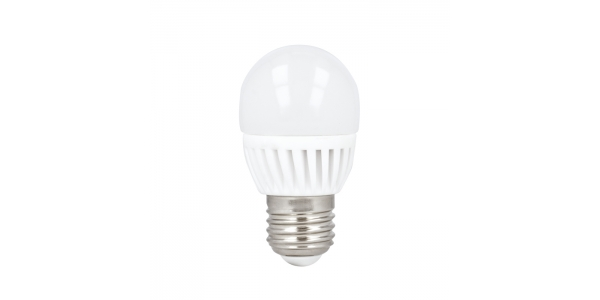 Bombilla LED E27, G45, Esférica, 10W. 3000k, Blanco Cálido. Ángulo 180º