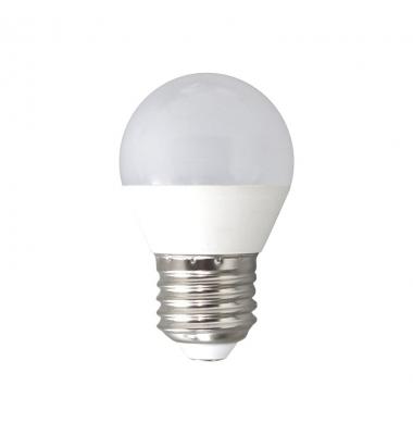 Bombilla LED E27, G45, Esférica, 6W, 3000k, Blanco Cálido. Ángulo 160º