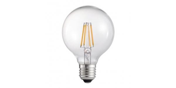 Bombilla Filamento Globo G95 LED Gold. E27. 6W