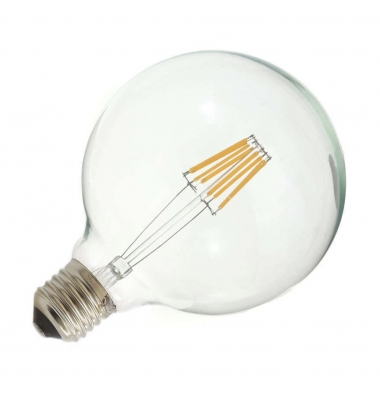 Bombilla LED Filamento G95 E27 6W. Blanco Natural. Ángulo 360º
