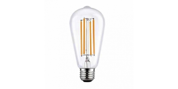 Bombilla LED Filamento, E27, ST64, 6W, 4000k, Blanco Natural. Ángulo 360º