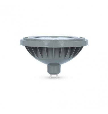Bombilla LED AR111 15W. 220V. Blanco Cálido. Ángulo 38º . 1200 Lm. Acabado Plata