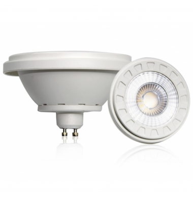 Bombilla LED AR111 12W. 220V. Regulable. Blanco Natural. 850 Lm. Ángulo 55º . Acabado Blanco