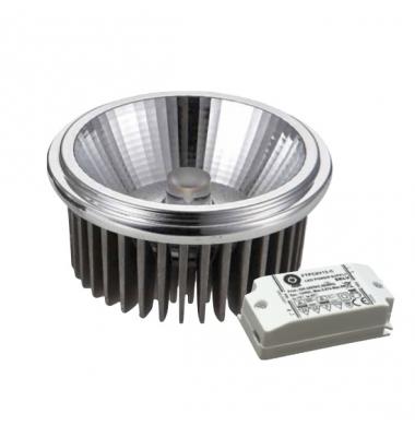 Bombilla LED AR111 18W COB 220V. Blanco Natural. Ángulo 120º . 2100 Lm. Acabado Aluminio