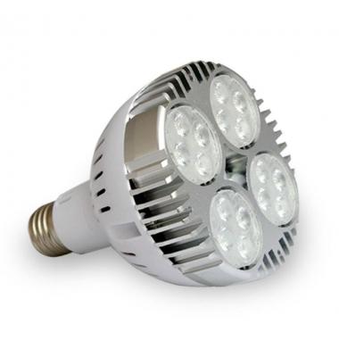 Bombilla LED PAR30 E27 35W. Ángulo 24º. Blanco Cálido